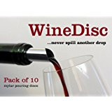 The Original Wine Disc - Pack of 10 Drop Stopping Pour Spouts