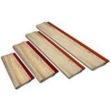 4 pcs Silk Screen Printing Squeegee Ink Scraper Kick Plate Scratch Board Blade
