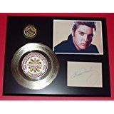 Elvis Presley 24Kt Gold Record Signature Series LTD Edition Display