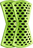 remodeez Natural Carbon Odor and Moisture Remover: Footwear Deodorizer, Green (2 Pack)