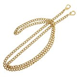 "ONBLUE NL-G 8MM Purse Chain Strap Replacement 47"" Gold Plated Metal Chain Handbags Strap for Clutch Wallet Satchel Tote Bags Shoulder Crossbody Bag Chain Replacement Strap"