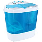 Auauna Mini Portable RV Dorm Compact 8-9lbs Washing Machine Washer Spin Dryer Laundry