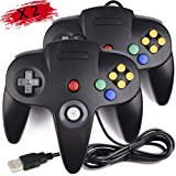 2 Pack Classic Nintendo 64 Controller, iNNEXT N64 Wired USB PC Game pad Joystick, N64 Bit USB Wired Game stick Joy pad Controller for Windows PC MAC Linux Android Raspberry Pi 3 Sega Genesis Higan