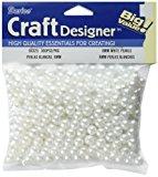 Darice 360-Piece Round Pearl Beads, 8mm, White